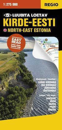 Kirde Eesti North East Estonia Kartta Svyl Verkkopuoti